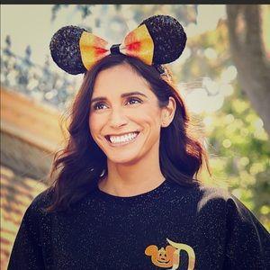 NWT Minnie Mouse Halloween Candy Corn Ear Headband